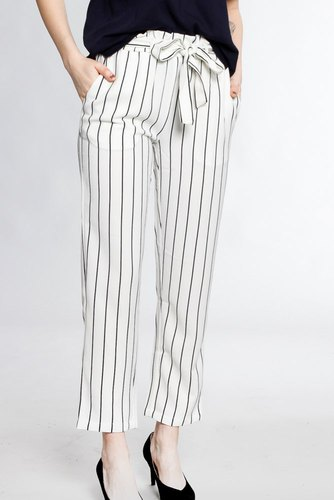 Rut & Circle Striped Ofelia Pant White/black