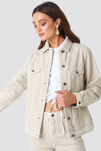 Rut & Circle Lova Cord Jacket Light Beige