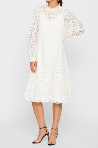 YAS Yasiria Dress - Icon S Star White