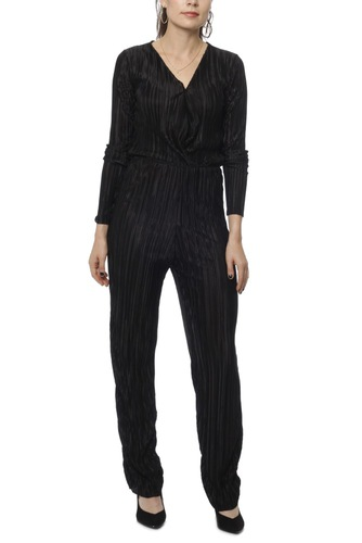 Rut & Circle Pleated Jumpsuit Black