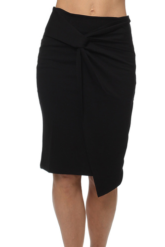 Vila VIANE KNOT SKIRT BLACK