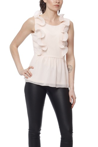 Vila Visaselina S/s Top Peach Blush
