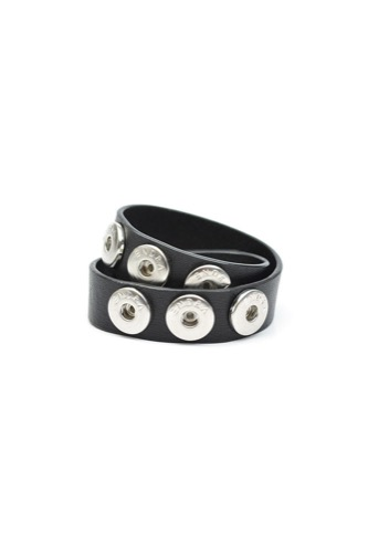 BRACELET DOUBLE LEATHER BLACK