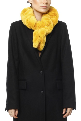 Zmillas Fake Fur Scarf Mustard