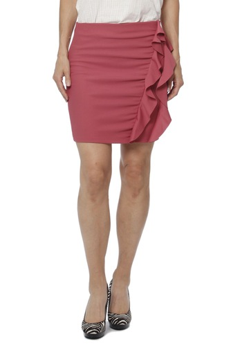 Rut & Circle Serena Frill Skirt Rose Pink