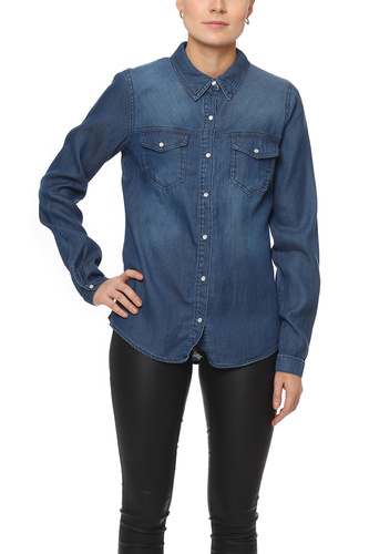 Vila VIBISTA DENIM SHIRT DARK BLUE