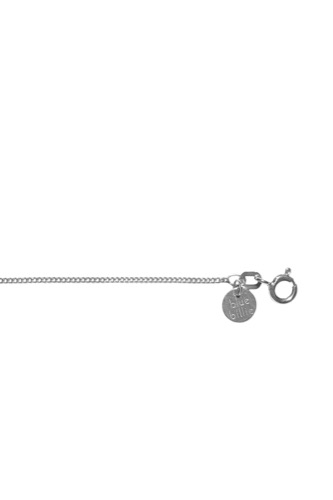 Blue Billie Chain Curb Silver