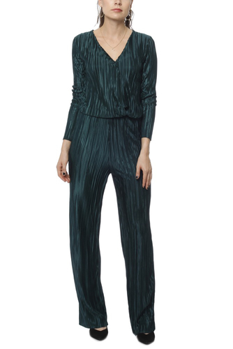 Rut & Circle Pleated Jumpsuit Dark Green