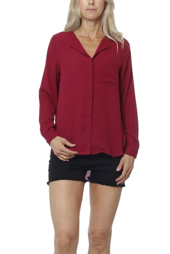 Selected Femme Sfdynella Ls Shirt Beet Red