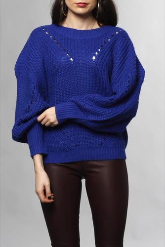 Vila Viview Knit Ballon L/s Surf The Web