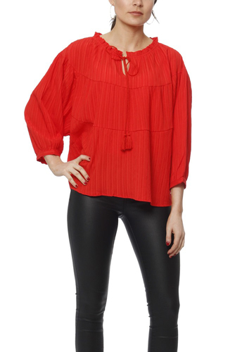 Vila Vifarida 3/4 Sleeve Top Orange Com