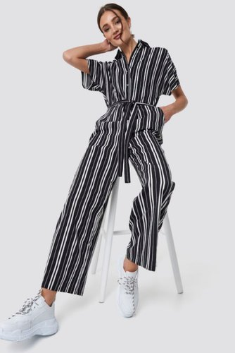 Rut & Circle Felicia Jumpsuit Black/white Str