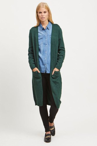 Vila Viril L/s Long Knit Cardi Pinegrove