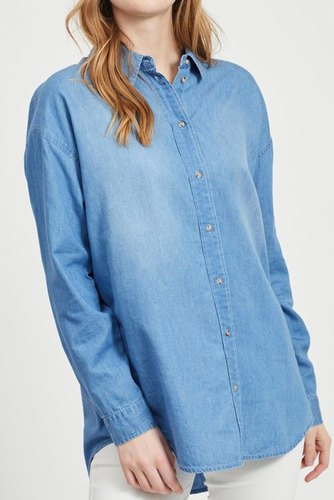 Vila Viflash L/s Shirt Medium Blue