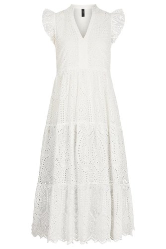 YAS Yasholi Sl Midi Dress Star White