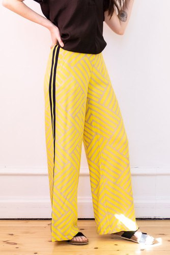 Selected Femme Slfalicia Hw Wide Pant Ex Spectra Yellow