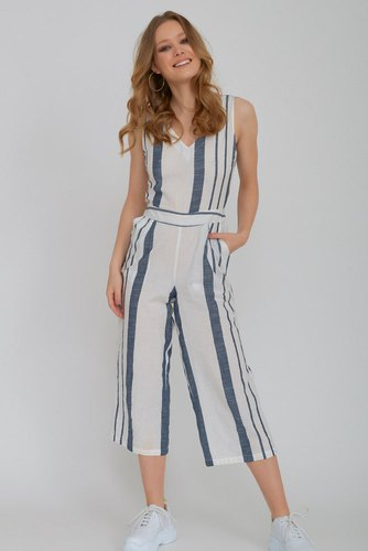 Rut & Circle Stripe Jumpsuit Blue/white