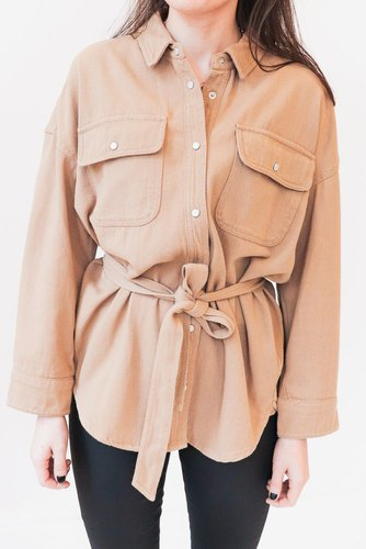 CO'COUTURE Khaki Denim Shirt Khaki