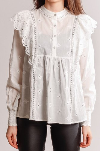 CO'COUTURE Izabel Anglaise Shirt White