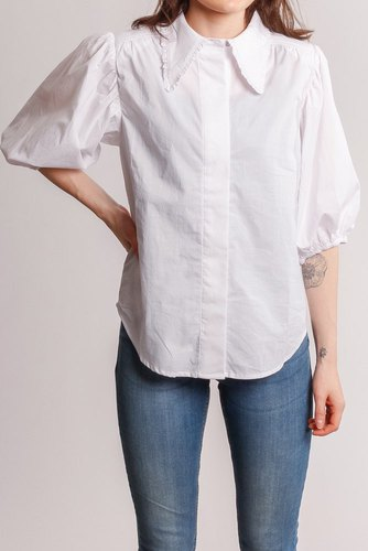 CO'COUTURE Briela Frill Spring Shirt White