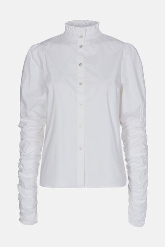 CO'COUTURE Sandy Poplin Puff Shirt White