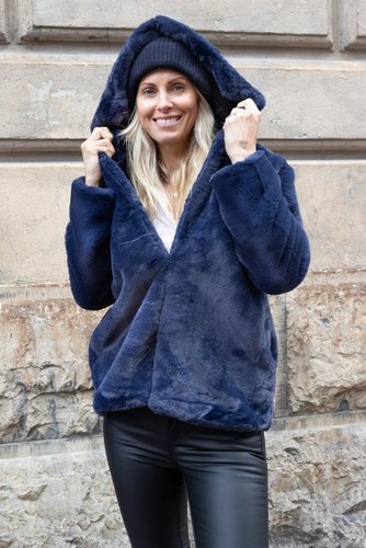 Zmillas Fur Coat W Hood Navy