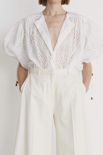 Rodebjer Breeze Embroidery Shirt White