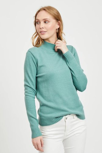 Vila Viril L/s Turtleneck Knit Oil Blue