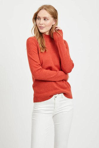 Vila Viril L/s Turtleneck Knit Ketchup