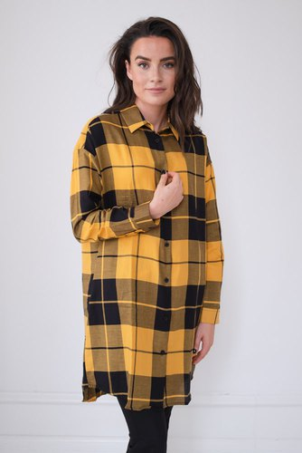 Dr. Denim Sunday Shirt Yellow Grid Che