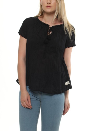 So Long S/s Blouse Almost Black