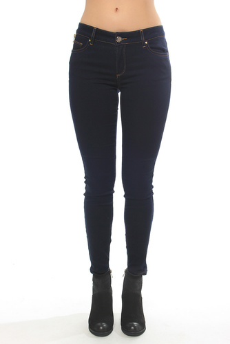 Victoria Silk Touch Jeans Blue Denim