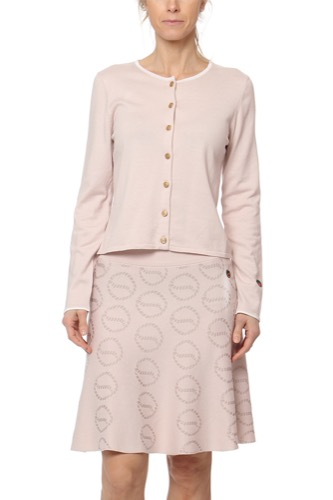 Busnel Kee Cardigan Light Pink With White