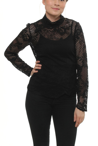 Viloras L/s Lace Top Black