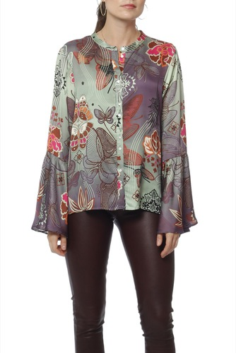 Odd Molly Cocktail Hour L/s Blouse Pistage Ice