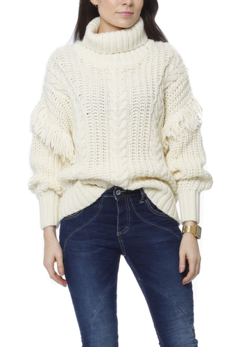Selected Femme Slflina Ls Knit Rollneck Birch