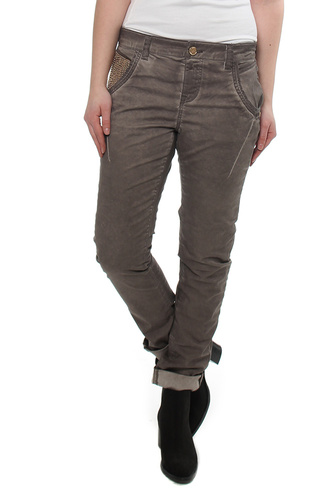 Linton Oil Pant Brown Coffee
