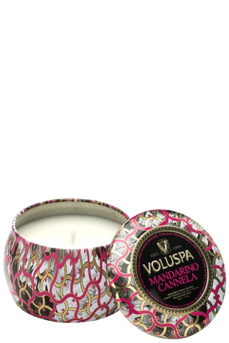Voluspa Dec. Tin Candle 25tim Mandarino Canne