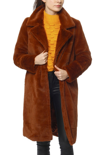 Rut & Circle Luna Fold Sleeve Coat Cognac