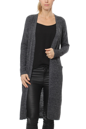 Vila RIVA LONG KNIT CARDIGAN TOTAL ECLIPS