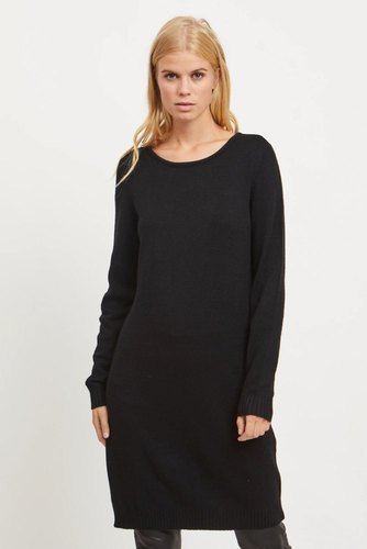 Vila Viril L/s Knit Dress Black