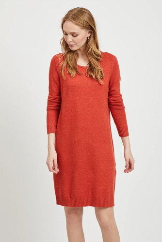 Vila Viril L/s Knit Dress Ketchup
