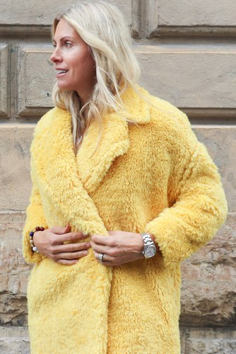 CO'COUTURE Teddy Wild Coat Lemon