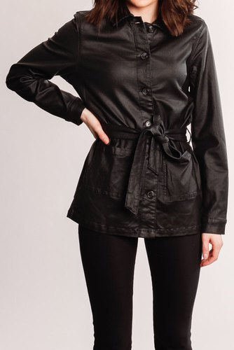 Vila Vicommit Coated L/s Jacke Black
