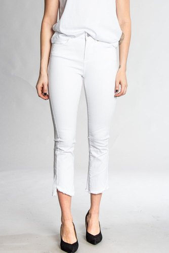 Two Angels Cropped Jeans White