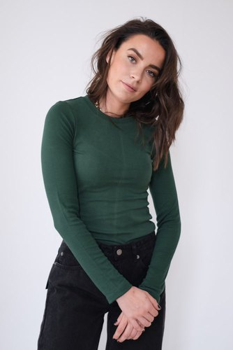 Dr. Denim Trinity Top Deep Green