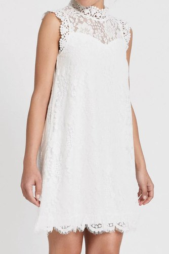 Dry Lake Swing Dress White Lace