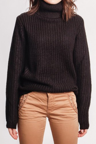 Rut & Circle Tinelle Rollneck Knit Black