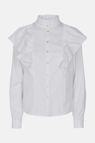 CO'COUTURE Berry Ruffle Shirt White
