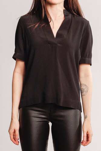 Selected Femme Slfella Ss Top Black